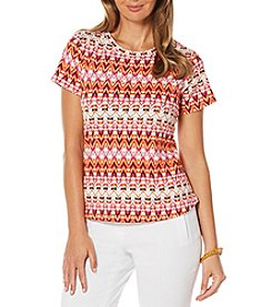 Rafaella® Chevron Print Top