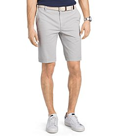 Izod® Men's Big & Tall Flat Front Washed Chino Shorts