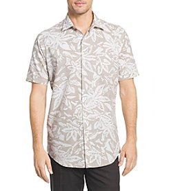 Van Heusen® White Washed Slub Reverse Print Point Collar Shirt