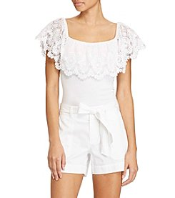 Lauren Ralph Lauren® Petites' Lace Off-The-Shoulder Top