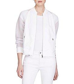 Lauren Ralph Lauren® Petites' Mesh-Sleeve Bomber Jacket