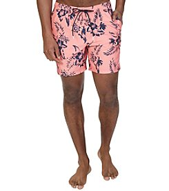 Nautica® Quick Dry Floral Print Swim Trunks