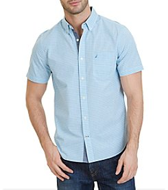 Nautica® Slim Fit Gingham Short Sleeve Shirt