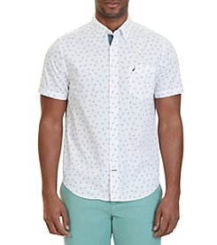 Nautica® Men's Slim Fit Anchor Print Short Sleeve Shirt