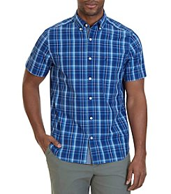 Nautica® Men's Classic Fit Estate Plaid Short Sleeve Shirt