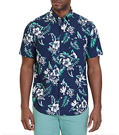 Nautica® Men's Classic Fit Floral Print Short Sleeve Shirt