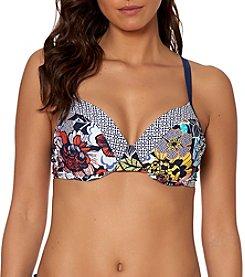 Ellen Tracy® Floral Bikini Top - D Cup