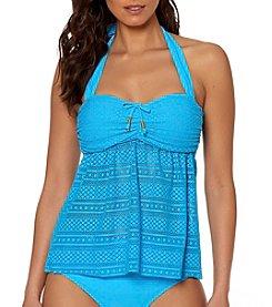 Ellen Tracy® Crochet Skirted Bandini Top