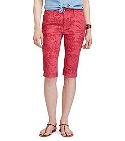 Chaps® Tropical-Print Stretch Cotton Shorts