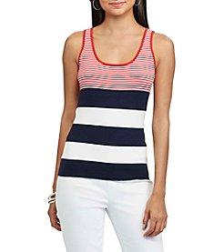 Chaps® Striped Sleeveless Sweater
