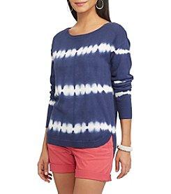 Chaps® Tie-Dye Striped Sweater