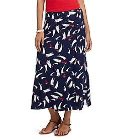 Chaps® Printed Wrap Maxi Skirt