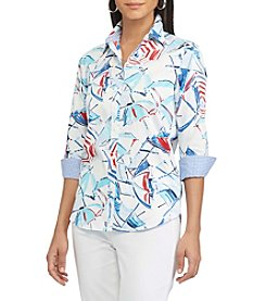 Chaps® Non-Iron Printed Sateen Shirt