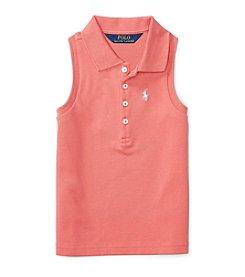 Polo Ralph Lauren® Girls' 2T-4T Mesh Polo Top