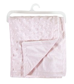 Stephan Baby® Pink Bumpy Dot Solid Blanket