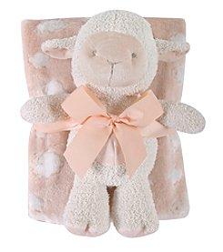 Stephan Baby® Pink Lamb Blanket/Toy Set