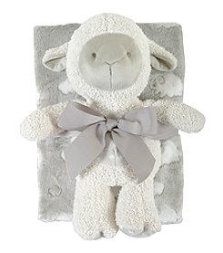 Stephan Baby® Lamb Gray Blanket/Toy Set