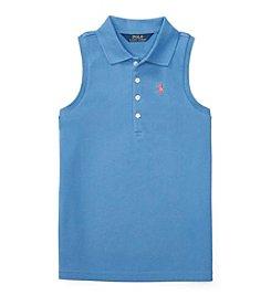 Polo Ralph Lauren® Girls' 7-16 Mesh Polo Top