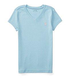 Polo Ralph Lauren® Girls' 7-16 V-Neck Tee