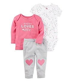 Carter's® Baby Girls' 3-Piece Heart Set