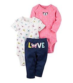 Carter's® Baby Girls' 3-Piece Floral Love Set