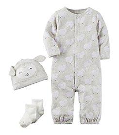 Carter's® Baby 3-Piece Lamb Hat And Onesie Set