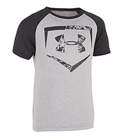 Under Armour® Boys' 2T-7 Home Plate Logo Raglan Tee