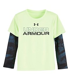 Under Armour® Boys' 2T-7 Cracked Layered-Look Shirt