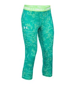 Under Armour® Girls' 7-16 Heatgear® Printed Capri Pants