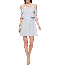 Jessica Simpson Cross Neck Sheath Dress