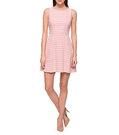 Jessica Simpson Stripe Fit And Flare Dress