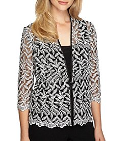 Alex Evenings® Stretch Tulle Twinset Jacket