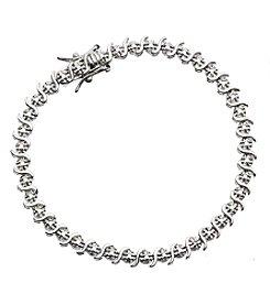 Marsala Diamond Accent Tennis Bracelet