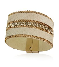 GUESS Crystal Accent Metallic Bracelet