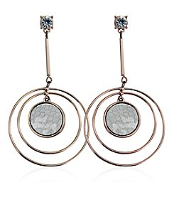 GUESS Orbital Drop Earrings