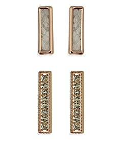 GUESS Crystal Accent Duo Earrings Set