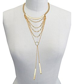 GUESS Multi Chain Crystal Accent Necklace