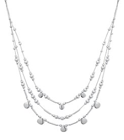 Nine West® Three Row Illusion Necklace