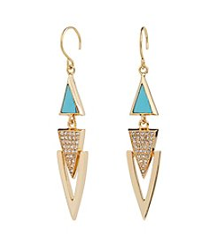 Vera Bradley® Triangle Triple Drop Earrings