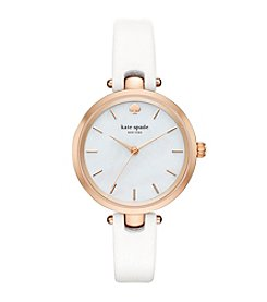 kate spade new york® Leather Holland Watch