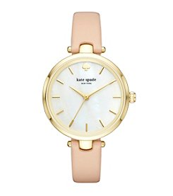 kate spade new york® Vachetta Leather Holland Watch