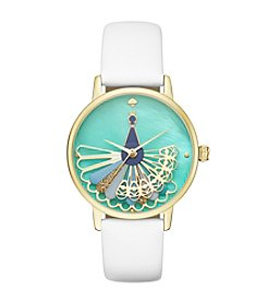 kate spade new york® Leather Metro Watch