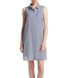 Jessica Howard® Check Printed Shirt Dress