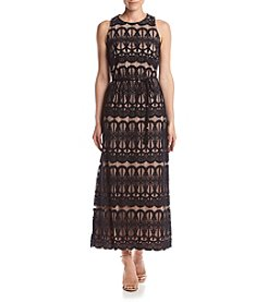 Jessica Howard® Lace Blouson Maxi Dress