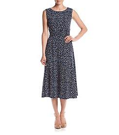 Jessica Howard® Printed Ruched Waist Dress