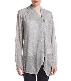 AGB® Patterned Single Button Cardigan