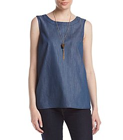 AGB® Chambray Necklace Top