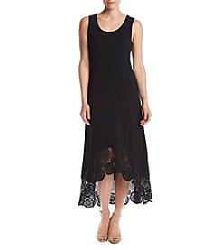 Cupio Crochet High Low Hem Dress