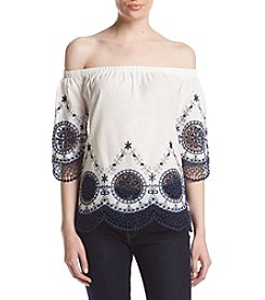 Adiva Embroidered Off Shoulder Top