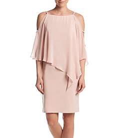 Xscape Rhinestone Trim Overlay Dress